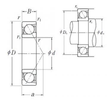 160 mm x 220 mm x 28 mm  NSK 7932 C angular contact ball bearings