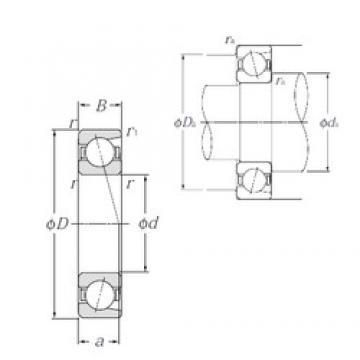 160 mm x 220 mm x 28 mm  NTN 7932 angular contact ball bearings
