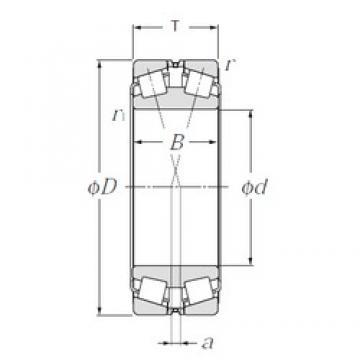 280 mm x 460 mm x 146 mm  NTN 323156 tapered roller bearings