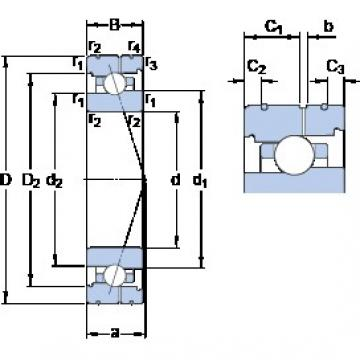 80 mm x 110 mm x 16 mm  SKF 71916 CB/P4AL angular contact ball bearings