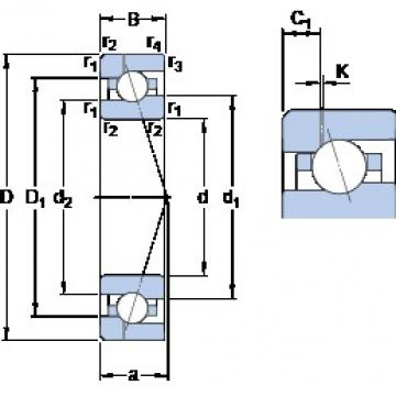 25 mm x 47 mm x 12 mm  SKF 7005 ACE/P4AH1 angular contact ball bearings