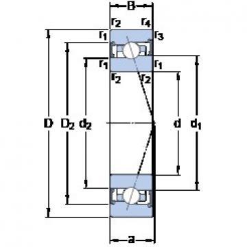 80 mm x 110 mm x 16 mm  SKF S71916 ACB/P4A angular contact ball bearings