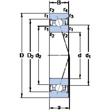 80 mm x 110 mm x 16 mm  SKF S71916 CB/HCP4A angular contact ball bearings