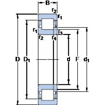 50 mm x 90 mm x 20 mm  SKF NUP 210 ECML thrust ball bearings