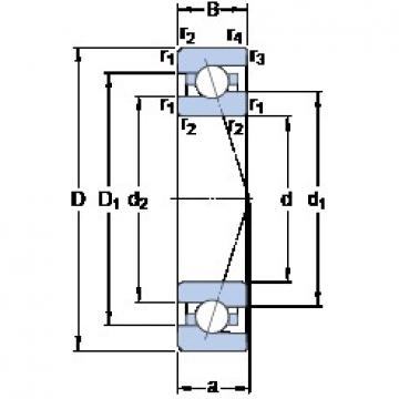 25 mm x 47 mm x 12 mm  SKF 7005 ACE/P4A angular contact ball bearings