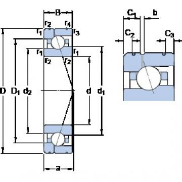 25 mm x 47 mm x 12 mm  SKF 7005 CE/HCP4AL1 angular contact ball bearings