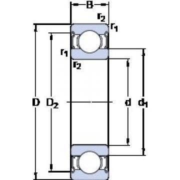 30 mm x 62 mm x 16 mm  SKF E2.6206-2Z deep groove ball bearings