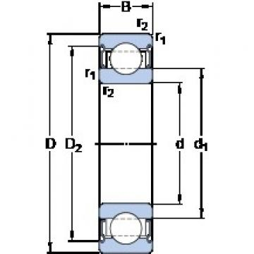 80 mm x 140 mm x 26 mm  SKF 6216-2Z/VA208 deep groove ball bearings