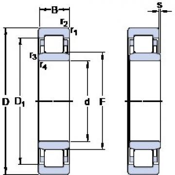80 mm x 140 mm x 26 mm  SKF NU 216 ECP thrust ball bearings
