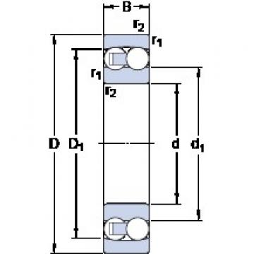 30 mm x 62 mm x 16 mm  SKF 1206 ETN9 self aligning ball bearings