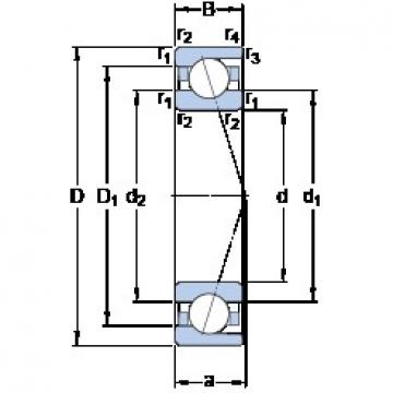 40 mm x 80 mm x 18 mm  SKF 7208 CD/HCP4A angular contact ball bearings