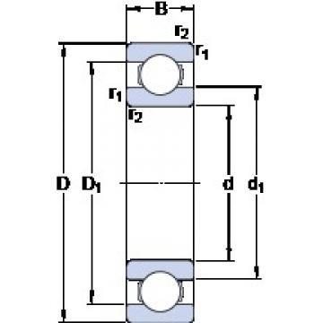 30 mm x 62 mm x 16 mm  SKF 6206 ETN9 deep groove ball bearings