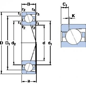 80 mm x 110 mm x 16 mm  SKF 71916 ACD/P4AH1 angular contact ball bearings