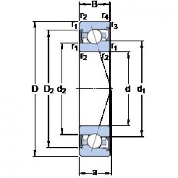 25 mm x 47 mm x 12 mm  SKF S7005 CE/P4A angular contact ball bearings