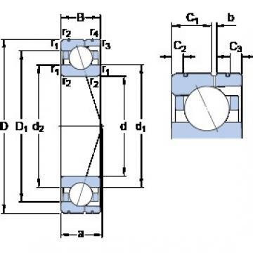 80 mm x 110 mm x 16 mm  SKF 71916 CD/HCP4AL angular contact ball bearings