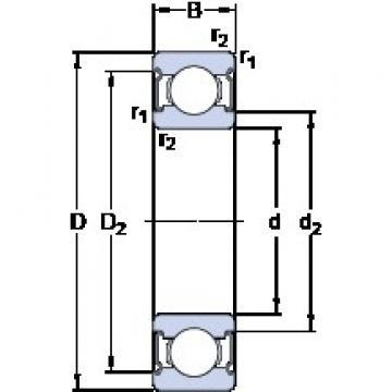 50 mm x 90 mm x 20 mm  SKF W 6210-2Z deep groove ball bearings