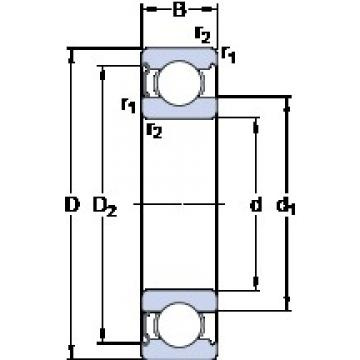 30 mm x 62 mm x 16 mm  SKF 6206-Z deep groove ball bearings