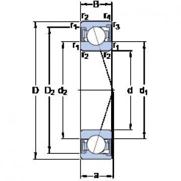 17 mm x 40 mm x 12 mm  SKF S7203 ACD/P4A angular contact ball bearings