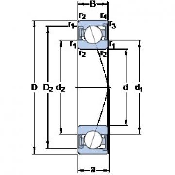 40 mm x 80 mm x 18 mm  SKF S7208 ACD/P4A angular contact ball bearings