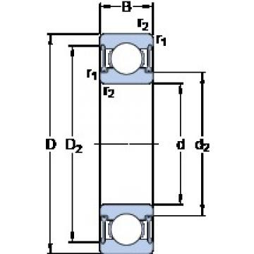 40 mm x 80 mm x 18 mm  SKF W 6208-2RZ deep groove ball bearings