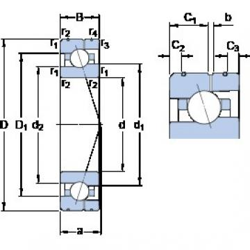 25 mm x 47 mm x 12 mm  SKF 7005 ACE/P4AL angular contact ball bearings