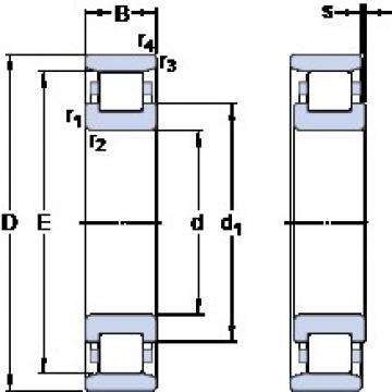 40 mm x 80 mm x 18 mm  SKF N 208 ECP thrust ball bearings
