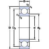 50 mm x 90 mm x 20 mm  SKF W 6210 deep groove ball bearings
