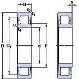 40 mm x 80 mm x 18 mm  SKF NU 208 ECML thrust ball bearings