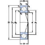 30 mm x 62 mm x 16 mm  SKF 7206 ACD/P4A angular contact ball bearings