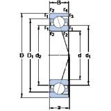 50 mm x 90 mm x 20 mm  SKF 7210 CD/P4A angular contact ball bearings