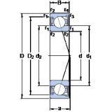 30 mm x 62 mm x 16 mm  SKF S7206 ACD/P4A angular contact ball bearings